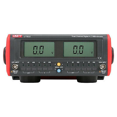 UNI-T UT632 Dual-Channel Digital Display AC Millivolt Meter Voltage Multimeter