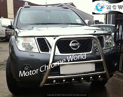 Nissan Navara Pathfinder D40 High Bull Bar 6-Axle Nudge A-Bar 2005-2010 Emperor