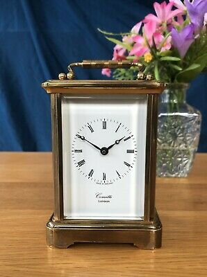 Comitti  8 Day Brass Carriage Clock In Original Box Fully Service November 2019