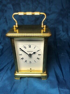 Antique Bayard Duverdrey & Bloquel 8 Day Brass Carriage Clock Plus Spares