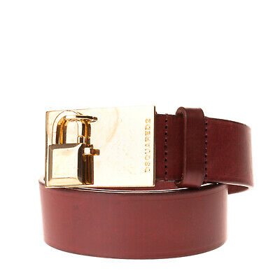 Size 95 BNWT Made in Italy $145 DSQUARED2 Black Leather Fashion Belt