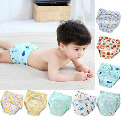 BG_ Baby Cotton Reusable Diaper Washable Nappy Cloth Training Pants Underwear No