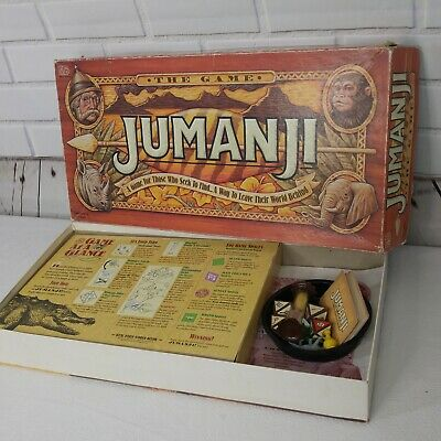 Jumanji Original Board Game Milton Bradley Vintage 1995 Complete Robin Williams