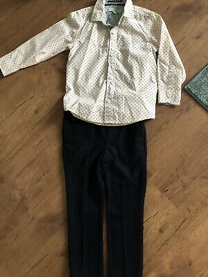 Boys Ted Baker Shirt And Navy Trousers Age 4 Year Excellent Condition Occasion