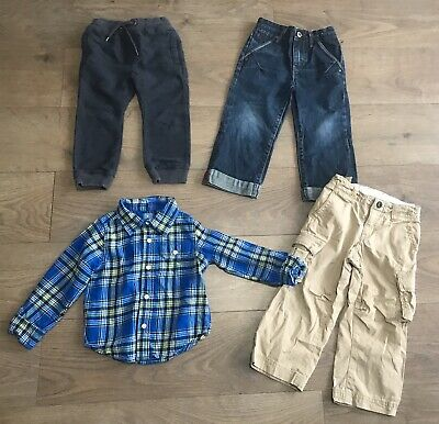 Boys bundle age 3 years next gap jeans tracksuit bottoms checked shirt F372
