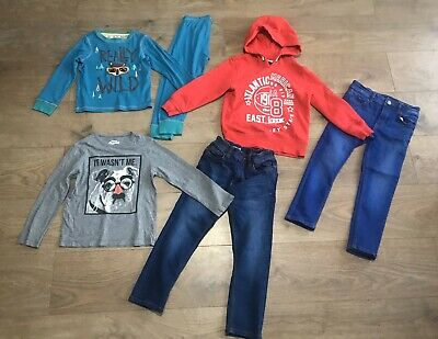 Boys bundle 4-5 years next skinny jeans red hoody pyjamas oshkosh F379