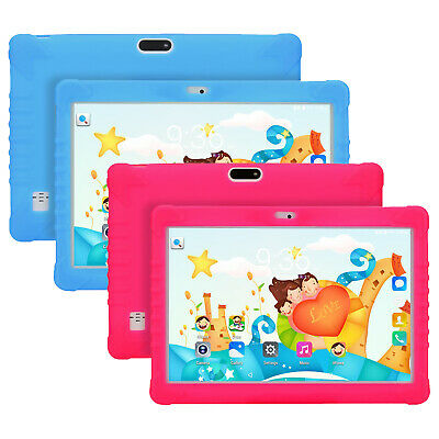 10 Inch Android 8.1 Unlocked Dual SIMs Quad Core Kids Tablet PC Bundle Free Case