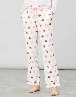 Joules Womens Snooze Woven Pyjama Bottoms in CREAM STAR
