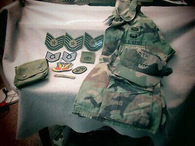 US Army Military 2nd Lt. 36th Air Lift Squadron Jacket Cap & Patches