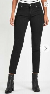 7 for all mankind b(air) womens slim Roxanne black jeans 30 mid rise £170 rrp
