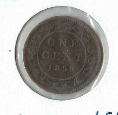 1859 Queen Victoria Large One Cent Canada Coin