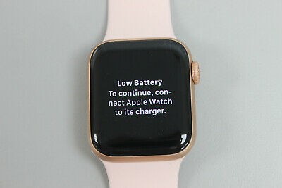 Apple Watch Series 5 40mm Aluminum Gold Case Pink Sand Sport Band - AS IS
