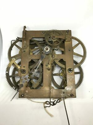 Antique Waterbury Weight Driven Mechanical Clock Movement for Parts | 22944