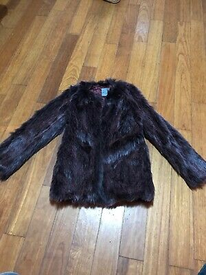 Girls Next Faux Fur Party Jacket Aged 11 Worn Once