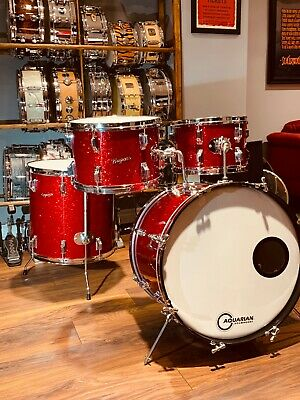 Rogers Holiday 1966-67 Red Glass Glitter drum set