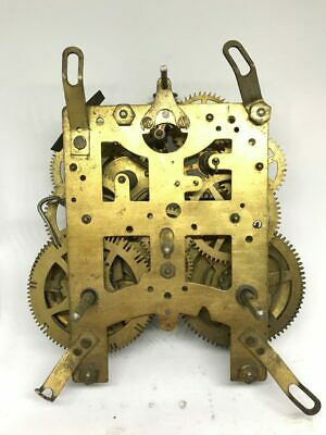 Unmarked Brass Mechanical Clock Movement for Parts | 22948