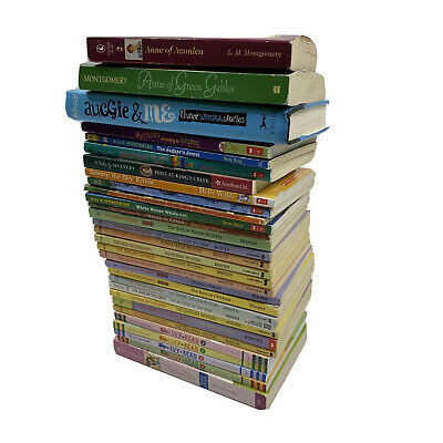Huge Bulk Lot of 30 Childrens Kids Chapter Books Instant Library Boxcar Ivy Bean