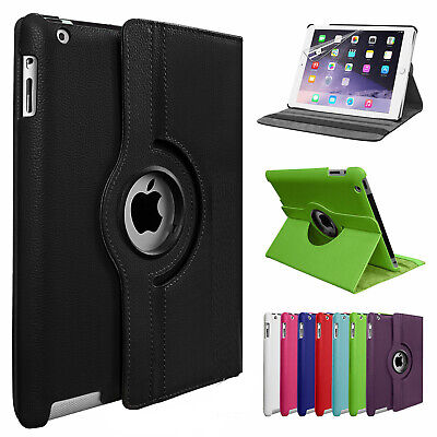 Leather Case for Apple iPad 10.2 7th Generation (2019) 360 Rotating Wallet Cover