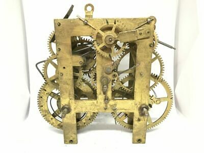 Antique Welch Brass Mechanical Clock Movement for Parts | 22980