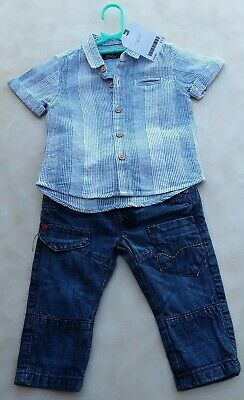 Baby Boys smart NEXT jeans & new shirt outfit 3-6 months VGC