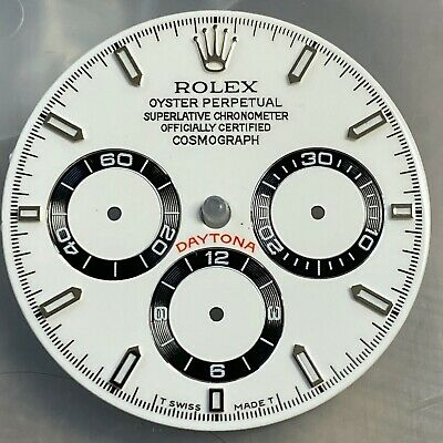 @@Custom Made Dial For Rolex Daytona Zenith In White And Black Indexes@@