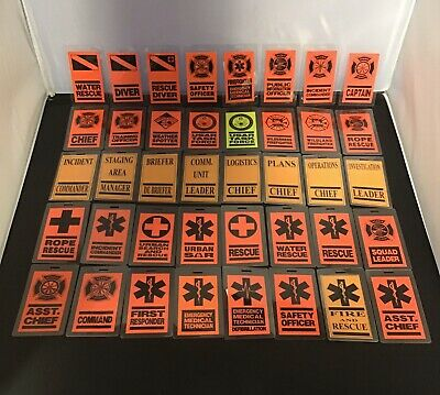 1st Responder/ Fire / EMS / Search & Rescue Luggage Tag: Choose Your Design New
