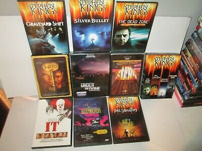 LOT OF 9 STEPHEN KING dvds rare dvd Set STAND Silver Bullet IT Under The Dome