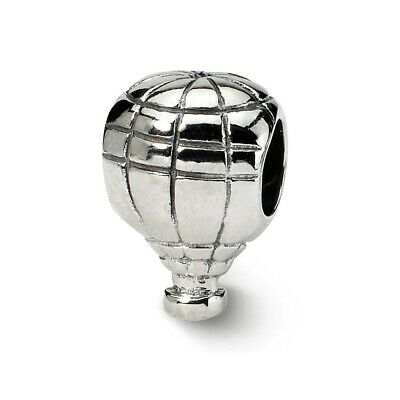 Hot Air Balloon Bead .925 Sterling Silver Antiqued Finish Reflection Beads