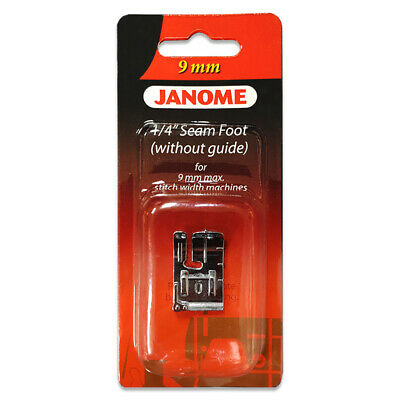 Janome 1/4 Inch Seam Foot Without Guide for 9mm Machines