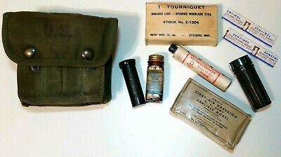 WW2 M2 Jungle First Aid Kit and Medic Gear Included