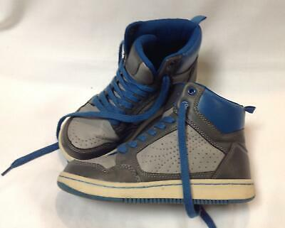 boys kids youth GAP dark light grey blue laces high hi top sneakers shoes 2