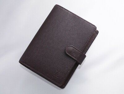 H7701M Authentic Louis Vuitton Taiga Agenda Notebook Cover PM