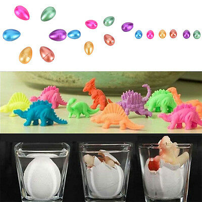 2x Hatching Dinosaur Eggs Inflation Growing Add Water Magic Cute Kids Toy WL _ZH