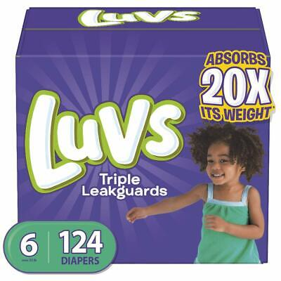 Luvs Ultra Triple Leakguards Disposable Baby Diapers Size 6, 124 Count