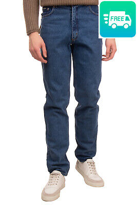 RRP €160 COTTON BELT Jeans Size 16Y Blue Garment Dye Zip Fly Made in Italy