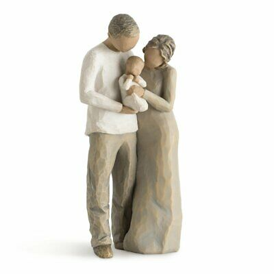 WILLOW TREE 27268 We Are Three Mother Father Newborn Baby Family Figurine Gift
