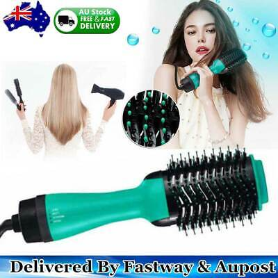 4-in-1 One Step Hair Dryer Comb and Volumizer Pro Brush Straightener Curler HOT