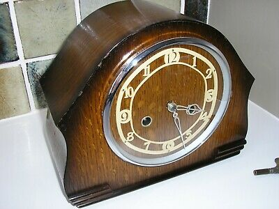 -RESTORED 1930's ENFIELD MANTLE CLOCK