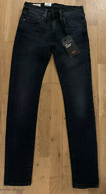 Levis 519 Extreme Skinny Fit Stretch Jeans W28 L32 Authentic Navy RRP £89