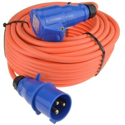 Caravan/Motorhome 3Pin Electric Hookup 2.5mm Mains Extension Cable 25m