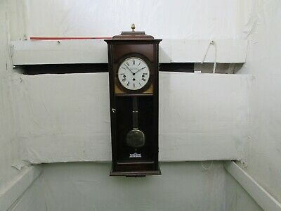 Knight & Gibbins London Mahogany Westminster Chime Wall Clock Silent/Strike