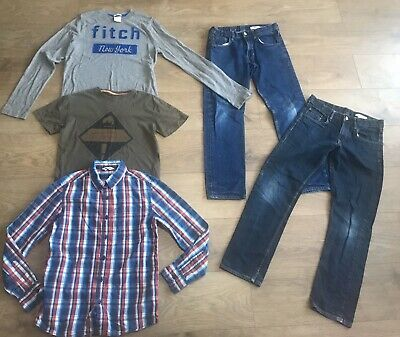 Boys bundle 11-12 years h&m jeans abercrombie top shirt F408