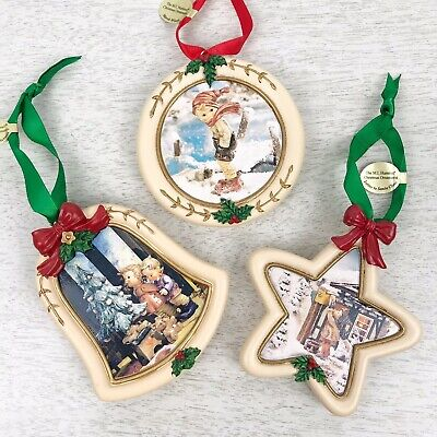 LOT OF 6 ARS M I HUMMEL ART TRADITIONAL CHRISTMAS ORNAMENTS W//BOXES /& BASES