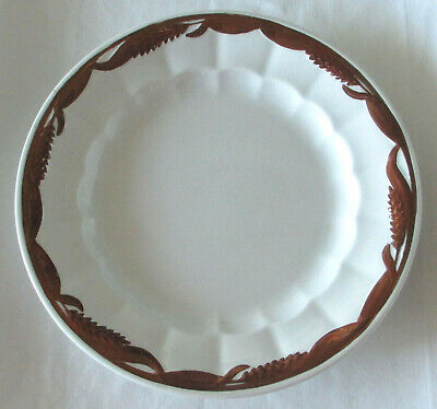"""Elsmore /& Forster Victory Shape Copper Lustre Luncheon 8 3//4/"""" Plate c1867"""