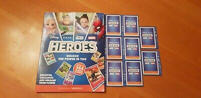 Sainsbury's HEROES Lego Trading Card Album and 8 Packs x 3 Cards Unopened (NEW)