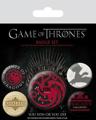 Game Of Thrones - Fire And Blood - Badge Packs - Trono Di Spade - Spillette