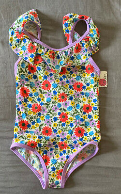 Girl's Size 4-5 Years Mini Boden Multicolor Floral Print One Piece Swimsuit