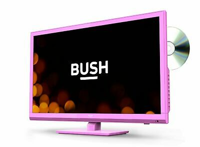 Bush 24 Inch 720p HD Ready Freeview HD LED TV/DVD Combi - Pink (2019 Model)