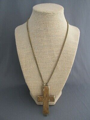 Vintage Mma Reliquary Cross Palestinian 1000-1200 Ad Byzantine Replica Necklace