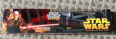 Star Wars Hasbro Revenge of the Sith Count Dooku Electronic Lightsaber, 2005